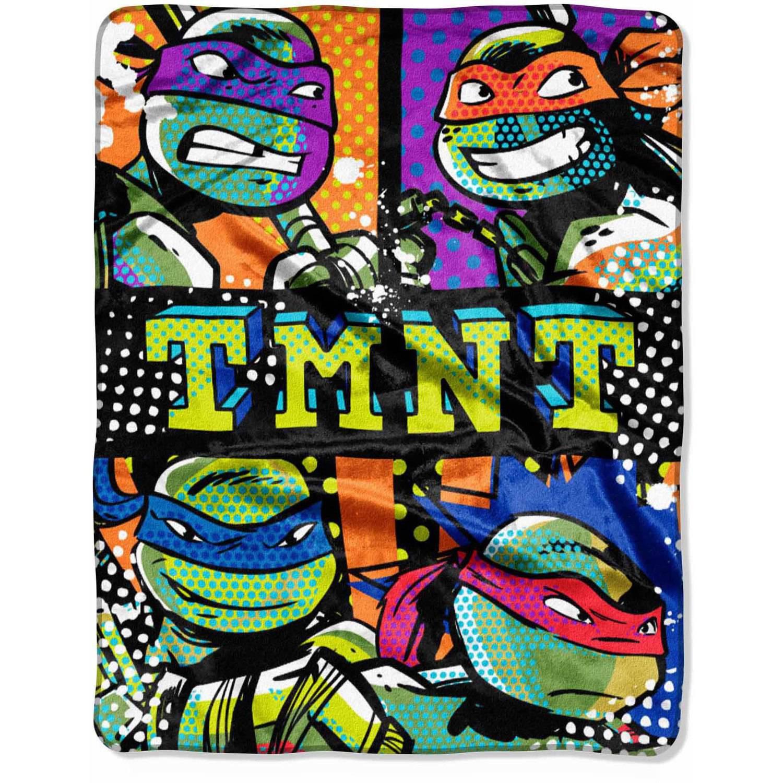 "Nickelodeon Teenage Mutant Ninja Turtles ""Nonstop Ninja"" 40"" x 50"" Silk Touch Throw"