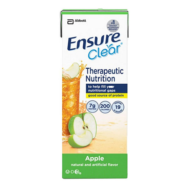 Ensure Clear Therapeutic Nutrition, Apple, 8 oz. Institutional Carton - 1 Bottle
