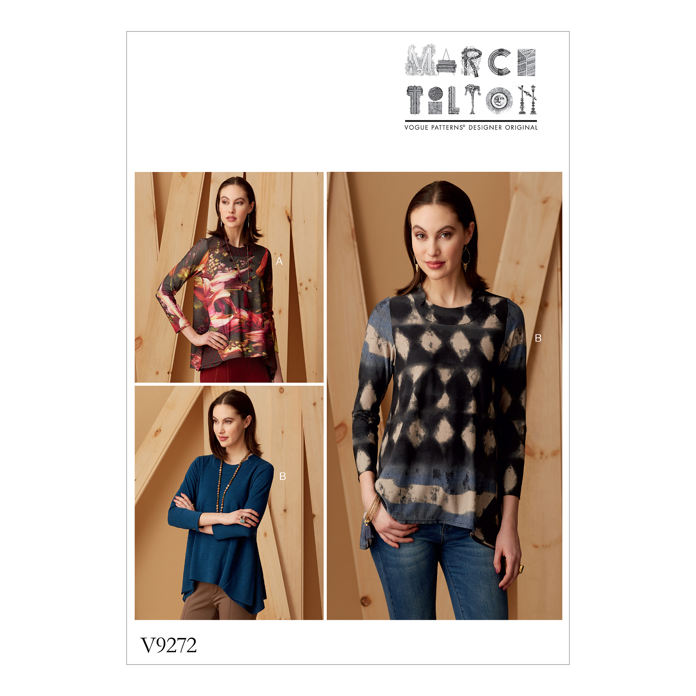 Vogue Patterns Sewing Pattern MISSES' KNIT SWING TUNICS WITH GODETS-L-XL-XXL