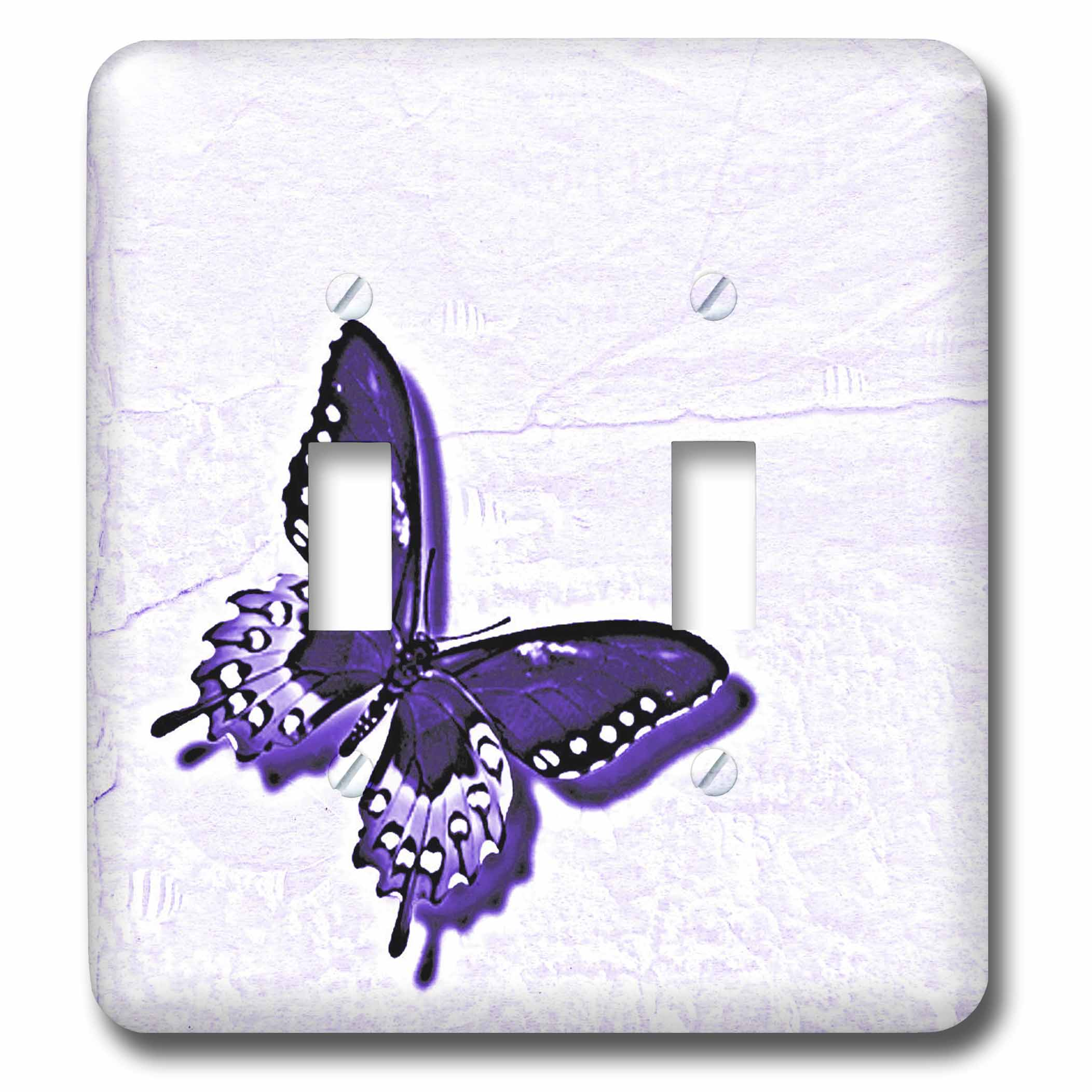 3drose Hues Of Purple Butterfly Art Nature Designs Double Toggle Switch Lsp 31382 2 Walmart Com Walmart Com
