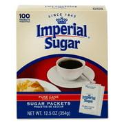 Imperial Sugar Pure Cane Sugar Packets, 100 ct, 12.5 oz