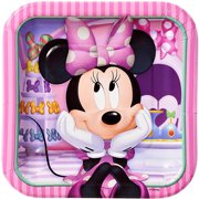 7 Minnie Mouse Bow Tique Square Paper Party Plate