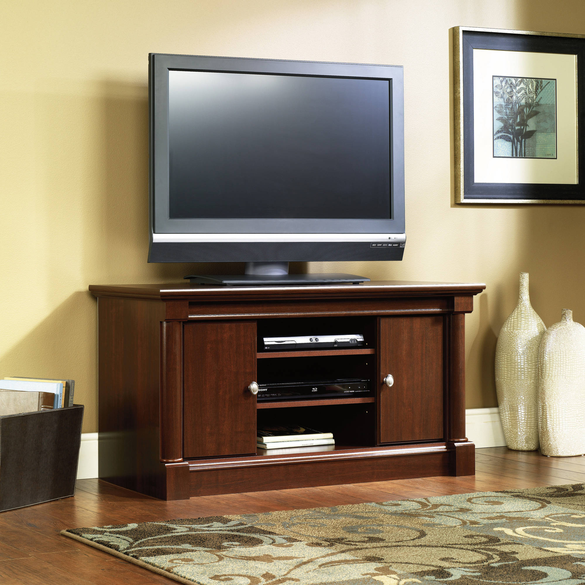 Sauder Palladia Tv Stand For Tv S Up To 50 Cherry Finish