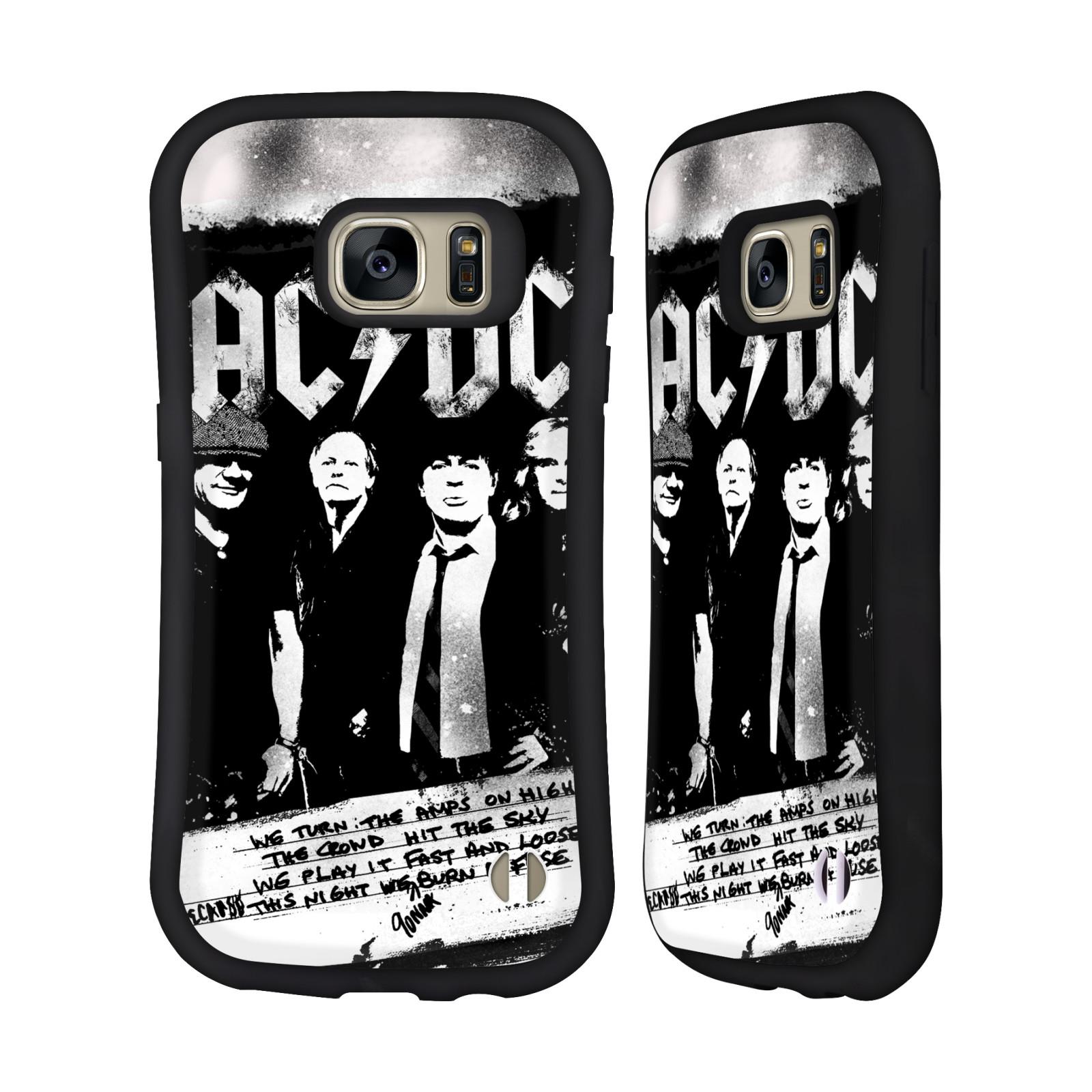 OFFICIAL AC/DC ACDC LYRICS HYBRID CASE FOR SAMSUNG PHONES