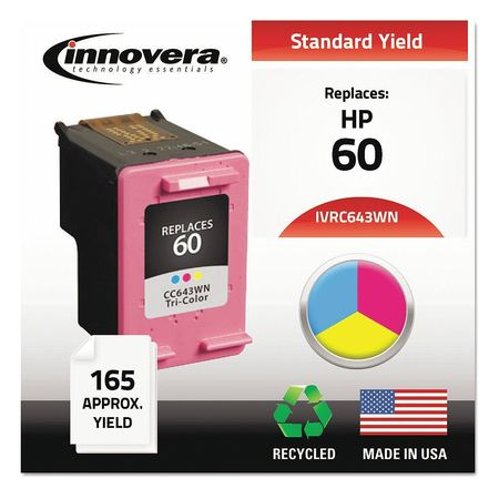 INNOVERA IVRC643WN Ink Cartridge,Tri-Color,HP,Max. Page 165 G1929630