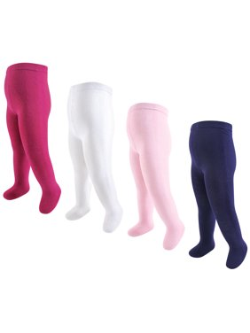 Touched by Nature Girls 4-14 Organic Cotton Tights 4-Pack