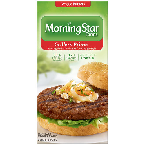 Morning Star Farms Grillers Prime Veggie Burgers 4ct Walmartcom