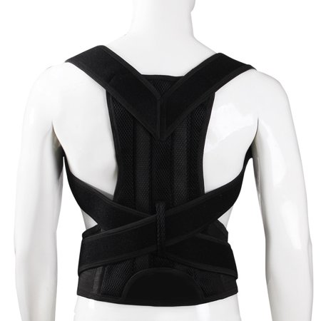 e0ce8e977e Back Posture Corrector Shoulder Lumbar Brace Spine Support Belt Adjustable  Adult Corset Posture Correction Belt Body Health Care - Walmart.com