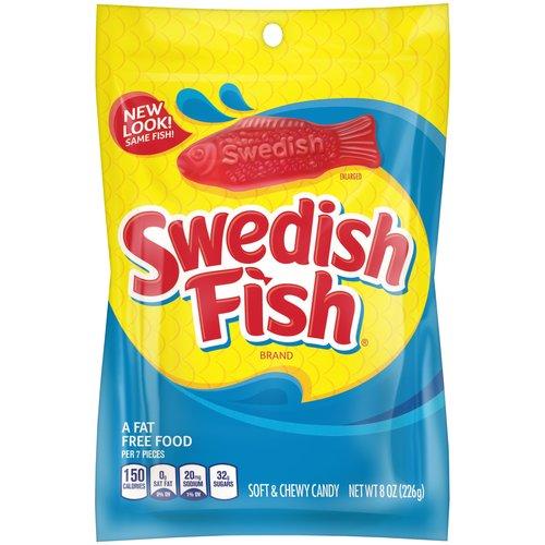 Swedish Fish Soft & Chewy Candy, 8 oz