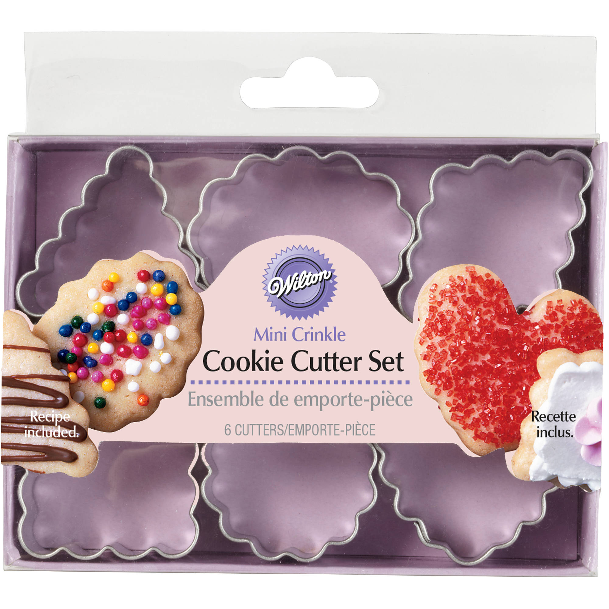 Wilton Mini Metal Cookie Cutter Set, Geometric Crinkle 6 ct. 2308-1205
