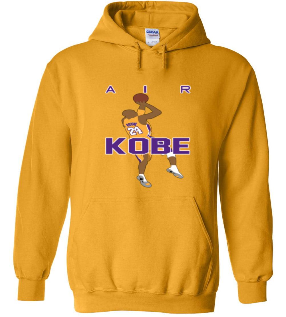 GOLD Kobe Bryant los Angeles Lakers PIC Hooded Sweatshirt