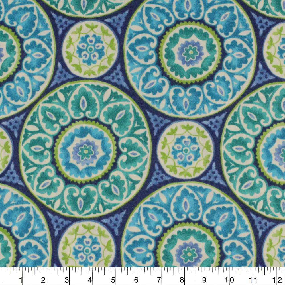 """Berkshire Home Polyester 54"""" Indoor/Outdoor Tabea Ocean Fabric, per Yard"""