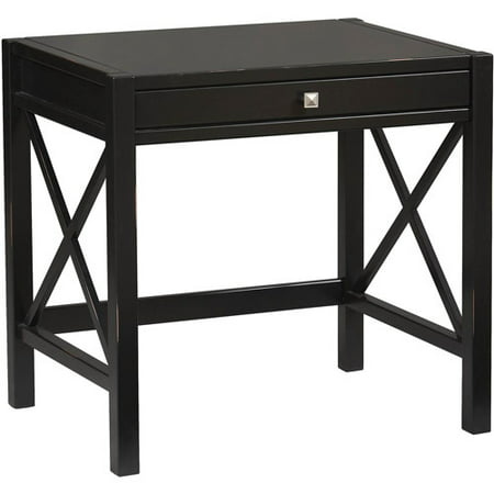 Linon Anna Laptop Desk, Antique Black, 30 inches High - Linon Anna Laptop Desk, Antique Black, 30 Inches High - Walmart.com