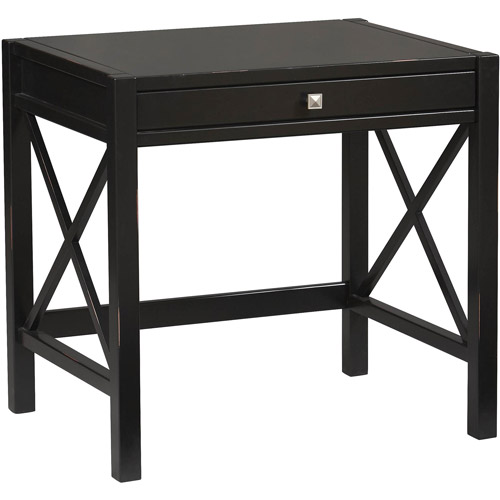 Linon Anna Laptop Desk, Antique Black, 30 inches High