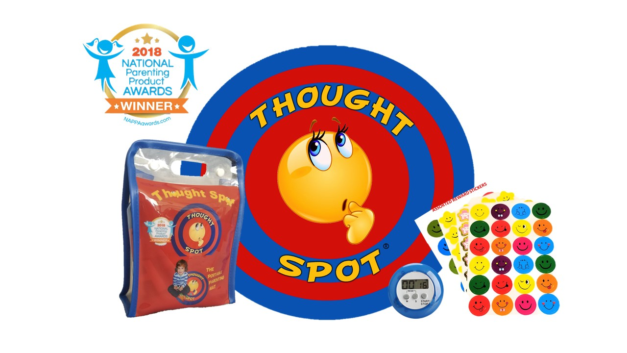 Thought-Spot A Portable Parenting Time Out Mat with DIGITAL TIMER 24 Inch Diameter made from recyclable non-toxic materials