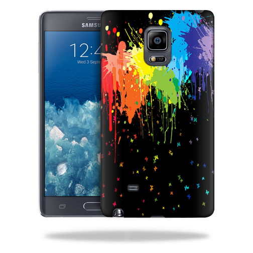 MightySkins Snap-On Protective Hard Case Cover for Samsung Galaxy Note Edge Case Splatter