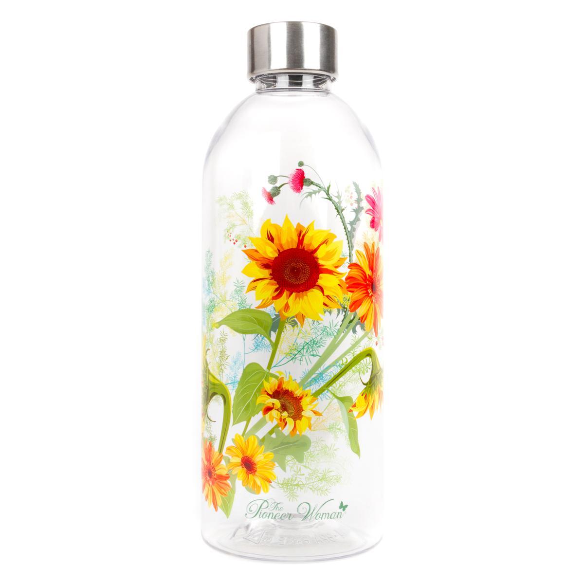 The Pioneer Woman® 34oz Tritan Water Bottle- Sunflower Print