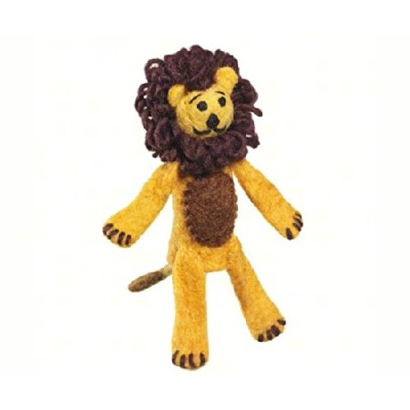 DZI Handmade Designs DZI482001 Lion Woolie Fingerpuppet Ornament