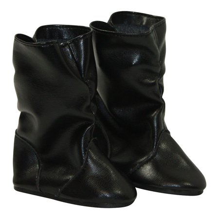 Arianna Black Faux Leather Boots on the Go fit American Girl 18 inch Doll and most 18 inch - Girls Leather Boots