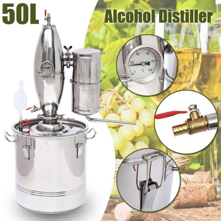 5/8/13 Gal  Gallon 20/30/50L Wine Alcohol Beer Stainless Copper Distiller  Moonshine Still Home Water Equipment Distilling Boiler Machine Maker Brew Kit](Mr Beer Bottles)