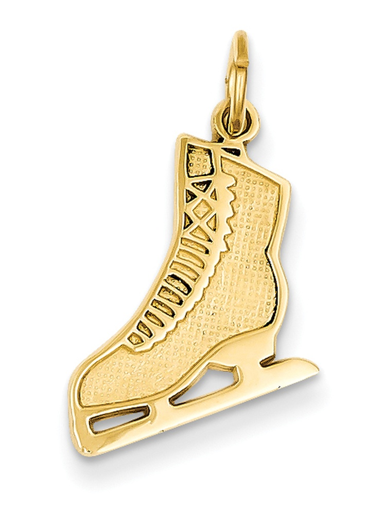 14k Yellow Gold Figure Skate K3538 by