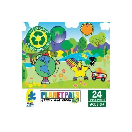 Planet Pals  A Clean Space Is A Happy Place  24 Piece Jigsaw Puzzle By Ceaco