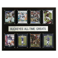 C&I Collectables NCAA Football 12x15 Ohio State Buckeyes All-Time Greats Plaque