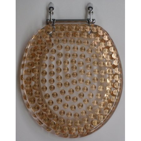 Fantastic Elongated Pennies Coins Money Penny Lucite Resin Toilet Seat Andrewgaddart Wooden Chair Designs For Living Room Andrewgaddartcom