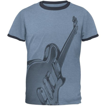 Electric Air Guitar Funny Costume Mens Ringer T Shirt ()