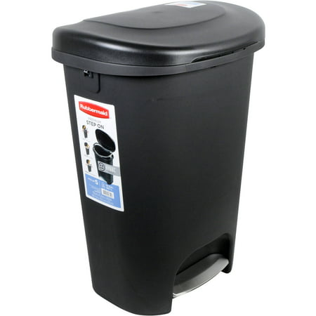Rubbermaid 2007867 13 Gallon Black Step-On Trash Can