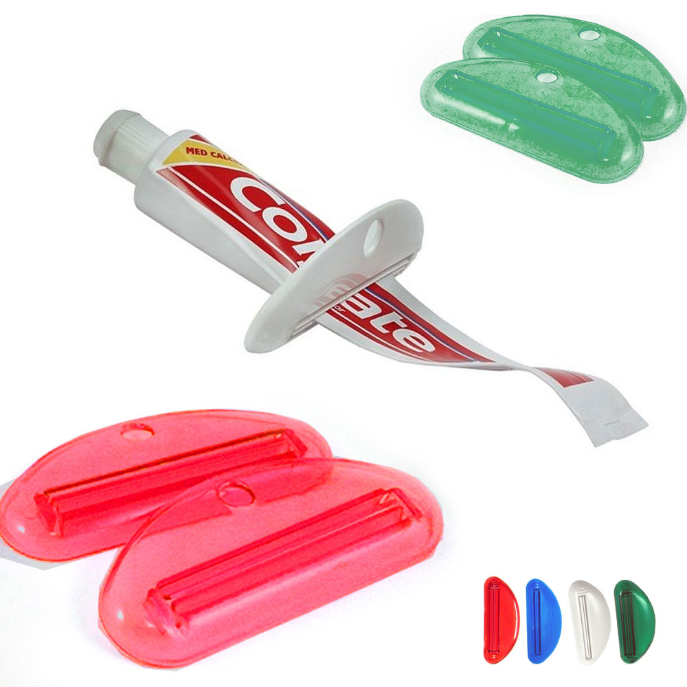 2 Ez Plastic Tube Squeezer Toothpaste Dispenser Holder Rolling Bathroom Extract