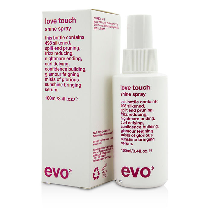 Evo - Love Touch Shine Spray (For All Hair Types Especially Thick Coarse Hair) - 100ml/3.4oz