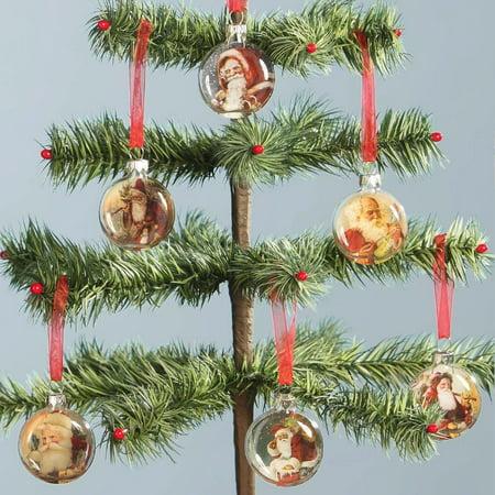 Santa Disc Ornaments  6 Scenes In Set  Bethany Lowe By Bethany Lowe