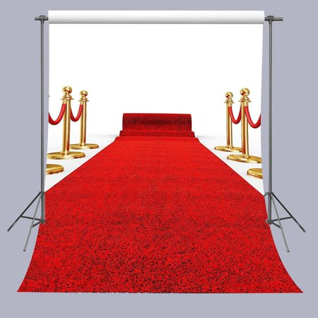 HelloDecor Polyster Photo Background 5x7ft Red Carpet Photography Backdrop For Wedding Party Props