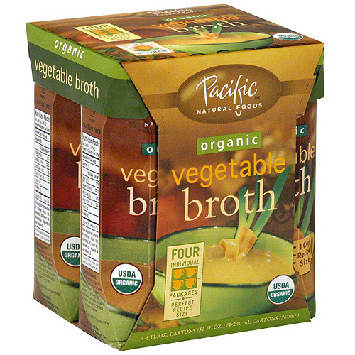 Pacific Natural Foods Organic Vegetable Broth, 8FO (Pack of 6)