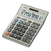 Casio DM-1200BM Desktop Calculator, 12-Digit Extra Large Display, Gray