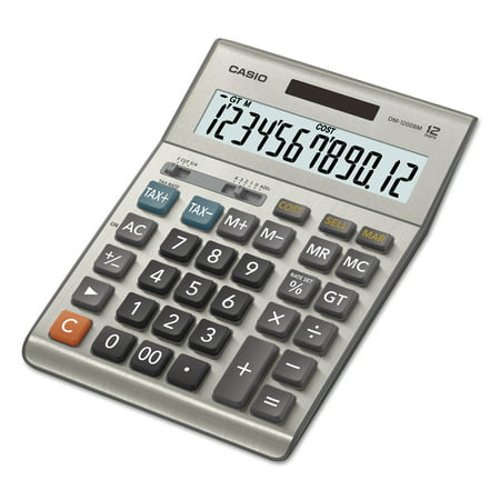 Casio DM-1200BM Desktop Calculator, 12-Digit Extra Large (Aluminum Desktop Calculator)