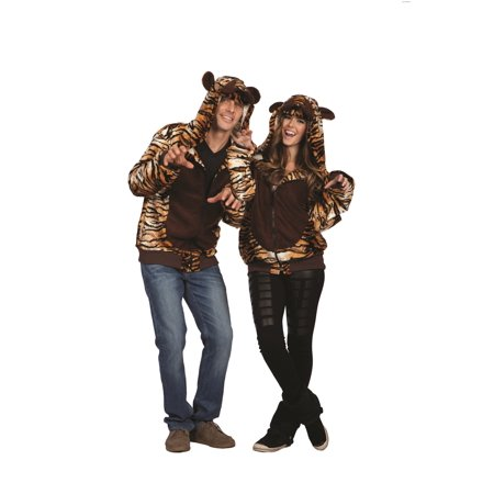 Taylor The Tiger Adult Hoodie Costume - Adult Tiger Costumes
