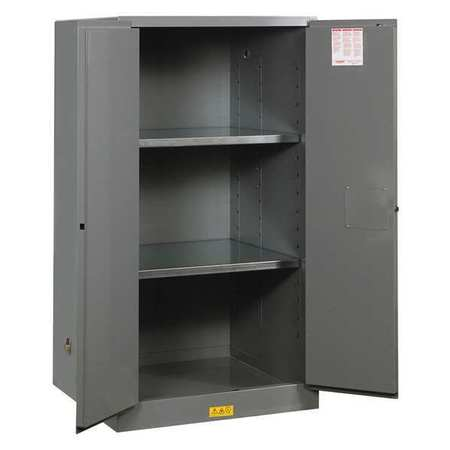 Flammable Safety Cabinet, 60 gal., Gray JUSTRITE 896003