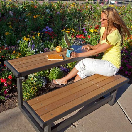 Lifetime Convertible Bench, Simulated Wood, 60054