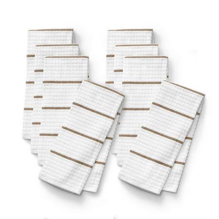 Clorox Striped Heavy Duty Kitchen Towels, Set of 8