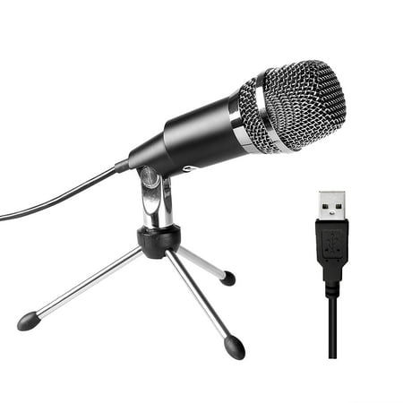 Usb Condenser Recording Microphones (USB Microphone,Fifine Plug &Play Home Studio USB Condenser Microphone for Skype, Recordings for YouTube, Google Voice Search,)