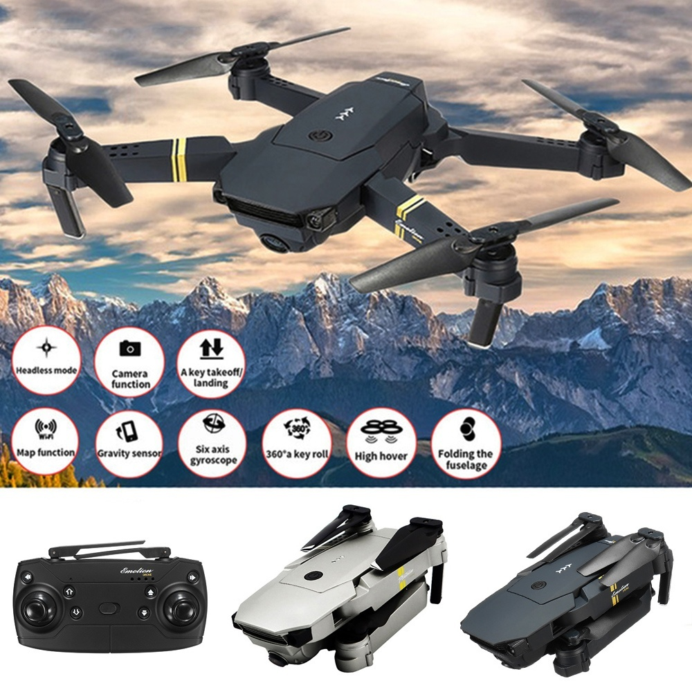 FPV RC Drones Toys w// Wide-angle 1080P HD Camera Headless  Quadcopter Gift