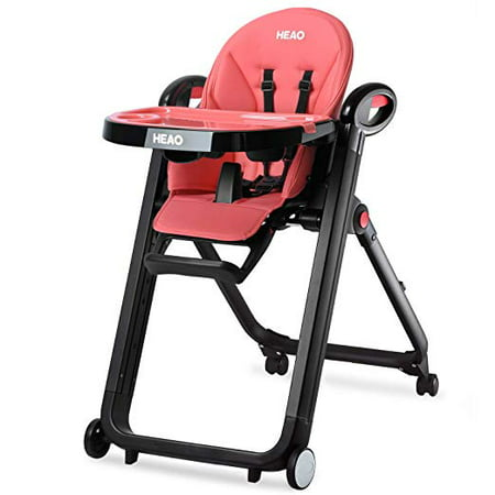 Heao Foldable High Chair Reclining Height Adjustable 4