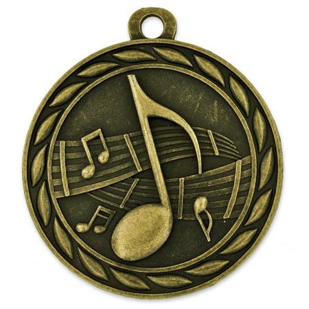 Gold Music Single and Bulk School Award Medals (Bulk Medals)