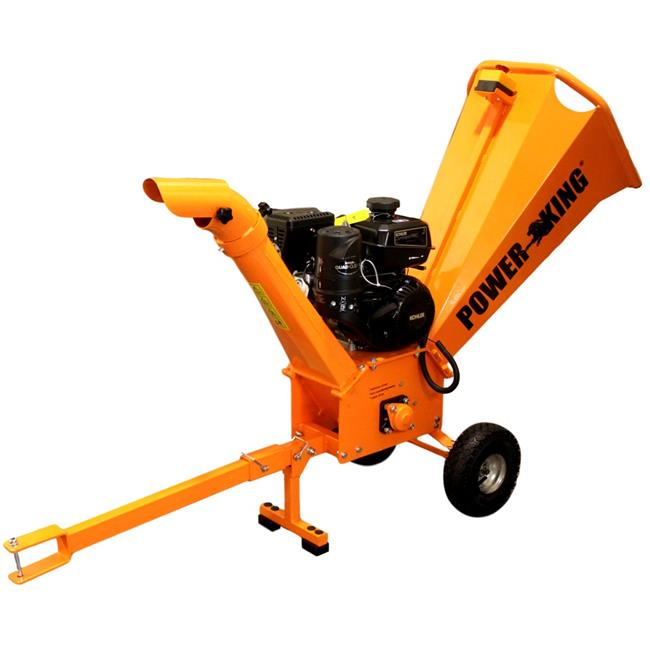 QV Tools PK0913 3 in. 7HP Gas Powered Chipper Shredder with Kohler Commercial Engine Pin Hitch