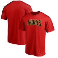 Atlanta Hawks Fanatics Branded Primary Wordmark T-Shirt - Red