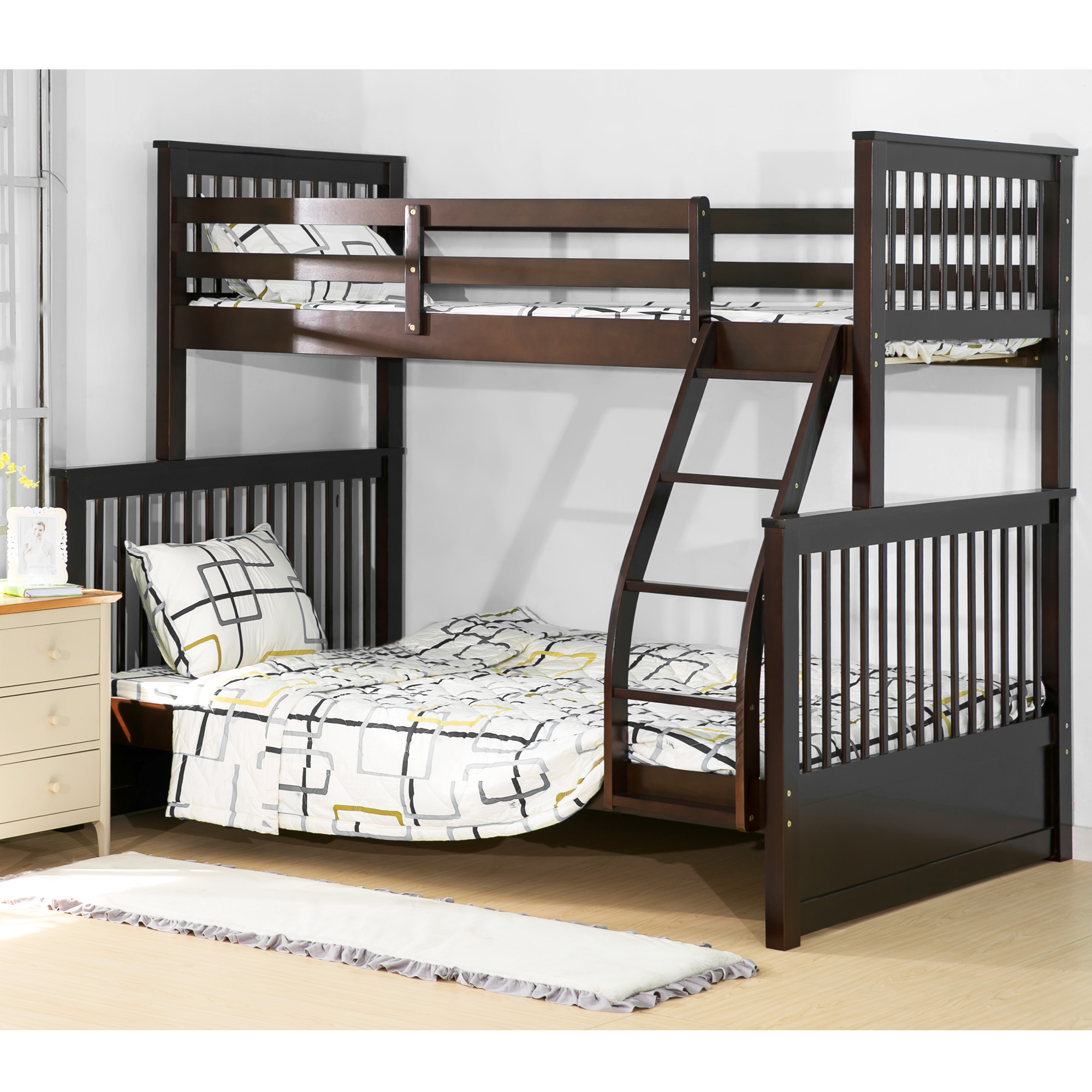 Harper Amp Bright Designs Twin Over Full Solid Wood Bunk Bed