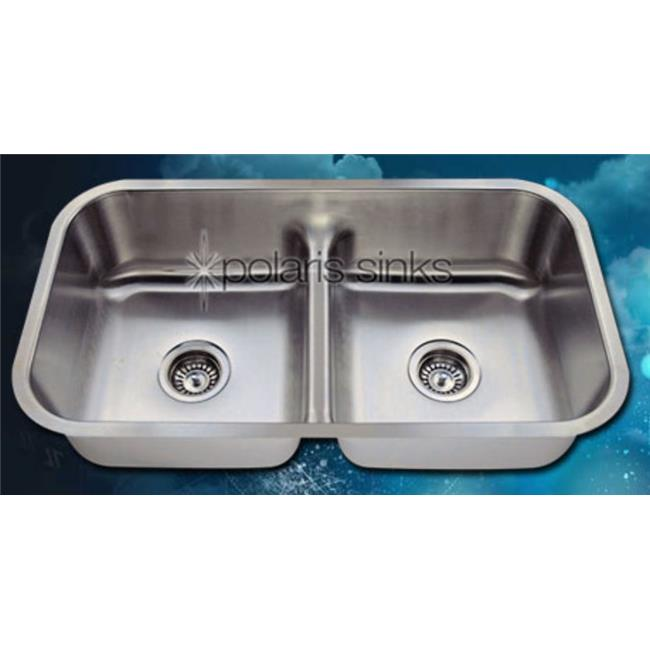 Polaris Sink P215-18 Half Divide Stainless Steel Kitchen Sink