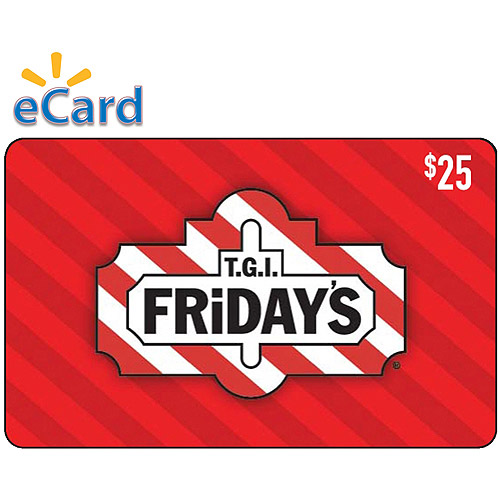 T.G.I. Friday's $25 eGift Card (Email Delivery)
